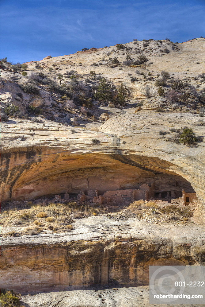 Butler Wash Achaeological Ruin, Ancestral Pueblo, Butler Wash, Shash Jaa National Monument, Utah, United States of America, North America