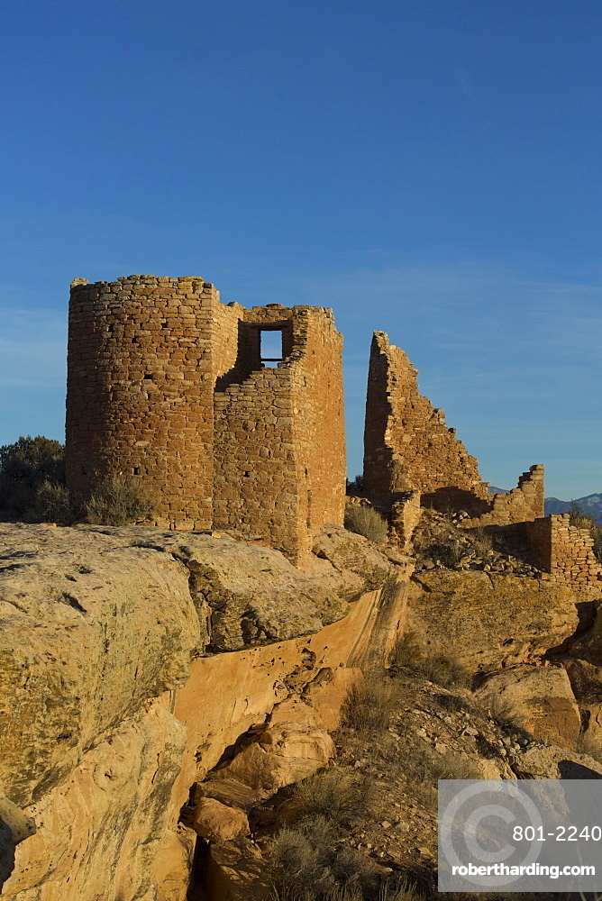 Hovenweep Castle, Late Afternoon, Ancestral Pueblo, Hovenweep National Monument, Utah, USA