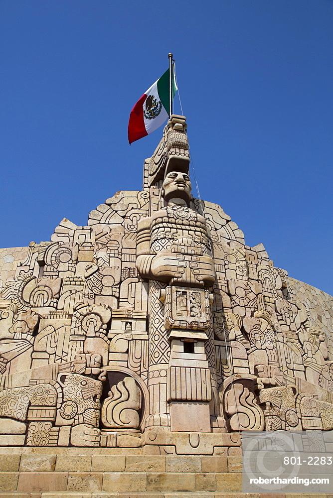 Monument to the Patria (Homeland), sculpted by Romulo Rozo, Merida, Yucatan, Mexico, North America