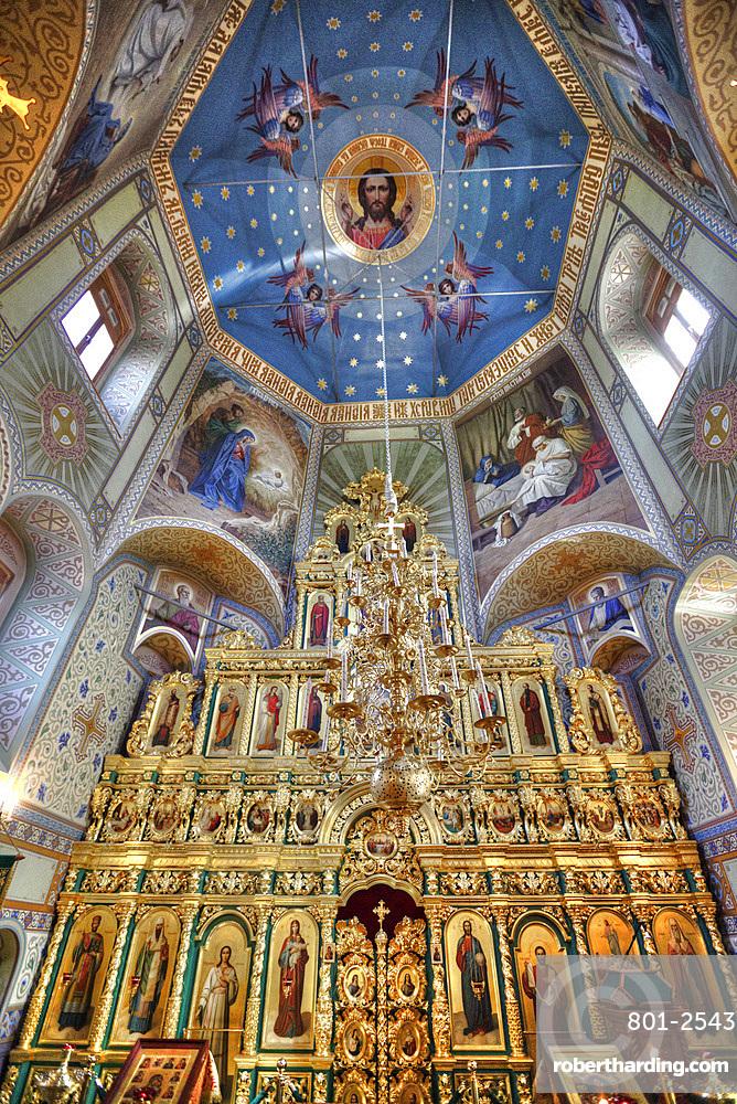 Interior frescoes, Uspenskaya Church, Suzdal, Vladimir Oblast, Russia, Europe