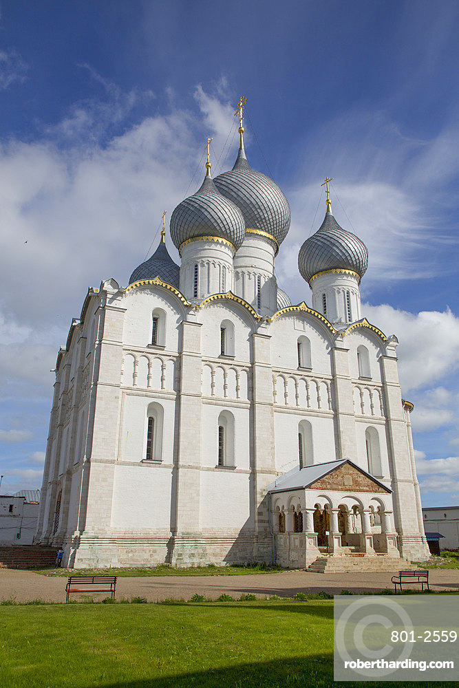 Cathedral of the Dormition, built 1162, Rostov Veliky, Golden Ring, Yaroslavl Oblast, Russia, Europe