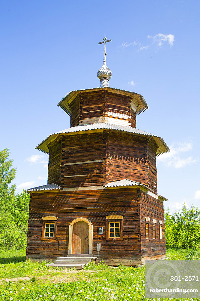 Chapel built in the 18th century, Museum of Wooden Architecture, Kostroma, Kostroma Oblast, Russia, Europe