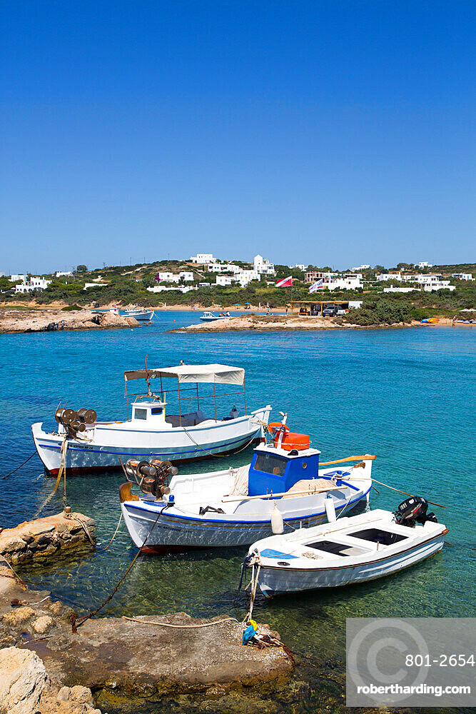 Fishing Boats, Santa Maria Beach Area, Paros Island, Cyclades Group, Greece