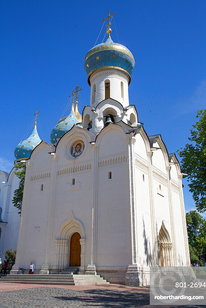 Holy Spirit Church, The Holy Trinity St Sergius Lavra, UNESCO Site, Sergiev Posad, Golden Ring, Moscow Oblast, Russia