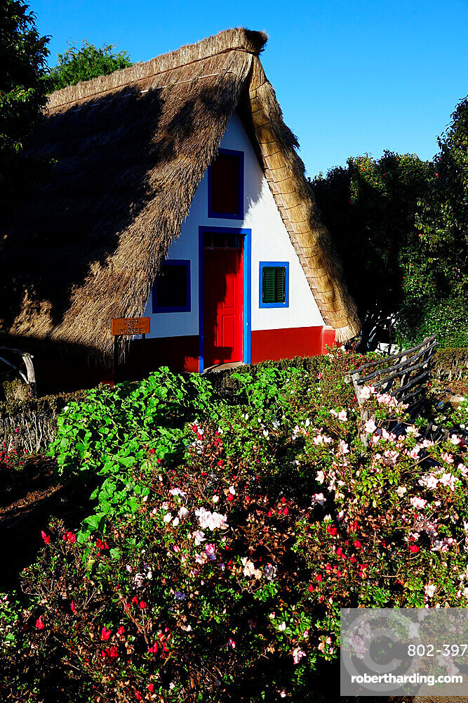 Traditional house in Santana, northwest Madeira, Portugal, Atlantic, Europe
