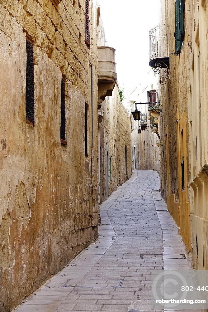 Street in Mdina (The Silent City), Malta, Europe