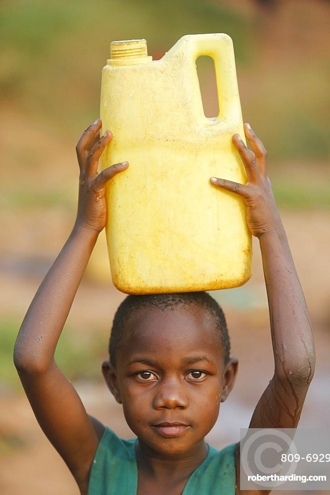 Fetching water in Mulago, Kampala, Uganda, Africa