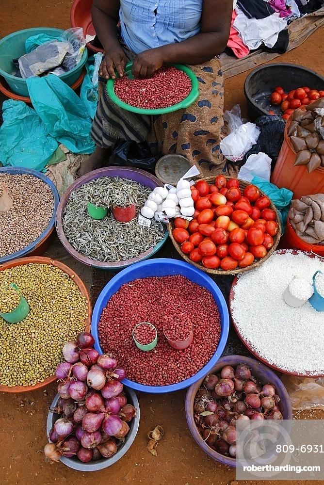 Masindi market stall, Masindi, Uganda, Africa