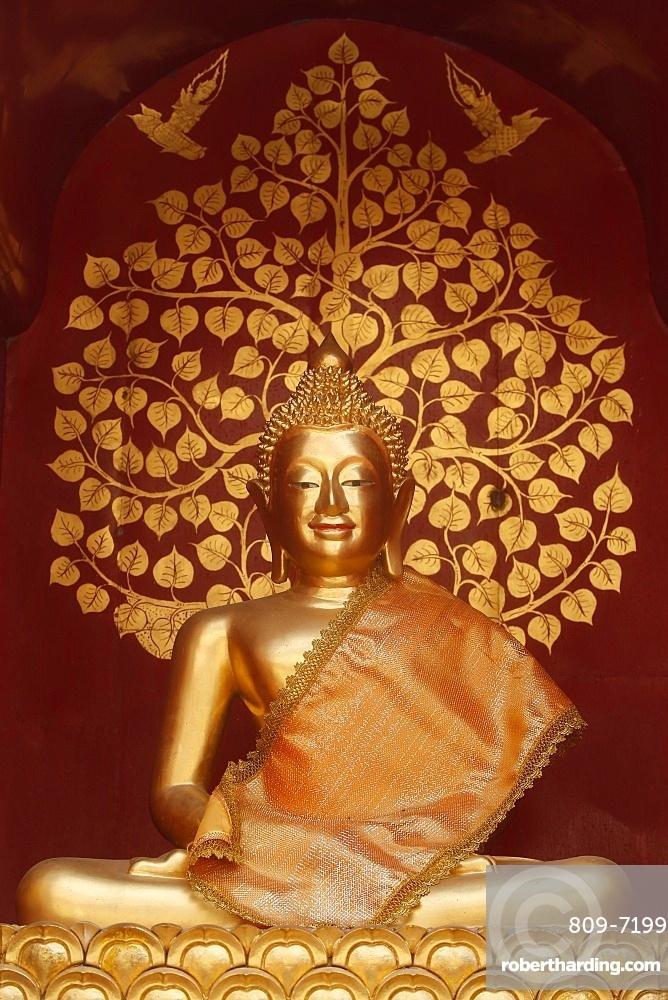 Buddha statue in Wat Phan On, Chiang Mai. Thailand.