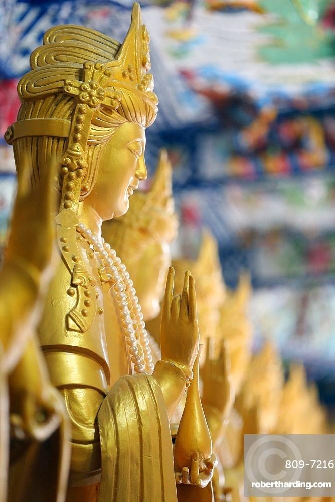 Linh Phuoc Buddhist Pagoda. Quan Am bodhisattva of compassion or goddess of Mercy. Dalat. Vietnam.