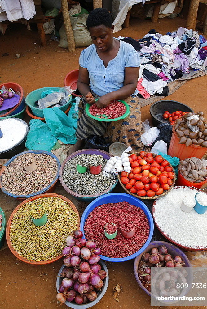 Masindi market stall. Uganda