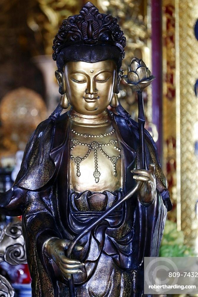 Goddess of Mercy, Avalokitesvara Bodhisattva statue, Chua Ho Quoc Pagoda, Quan Am, Phu Quoc, Vietnam, Indochina, Southeast Asia, Asia