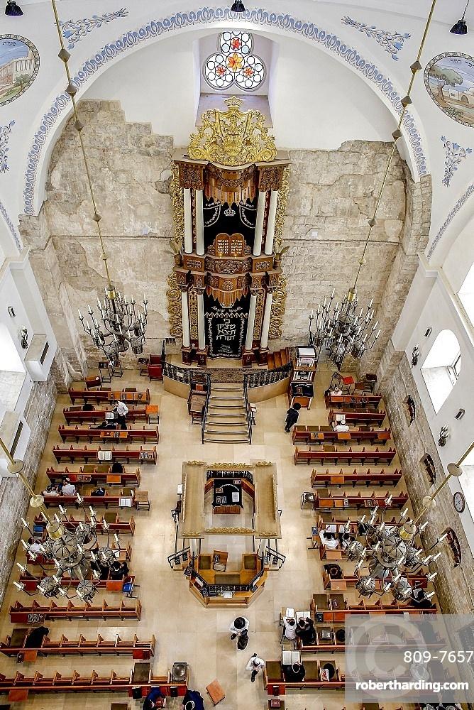 Hurva Synagogue, Jerusalem old city, Israel, Middle East