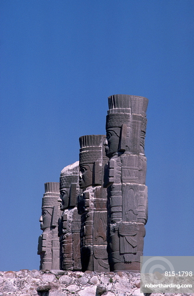 Toltec Atlantean figures, Tula, Mexico, North America
