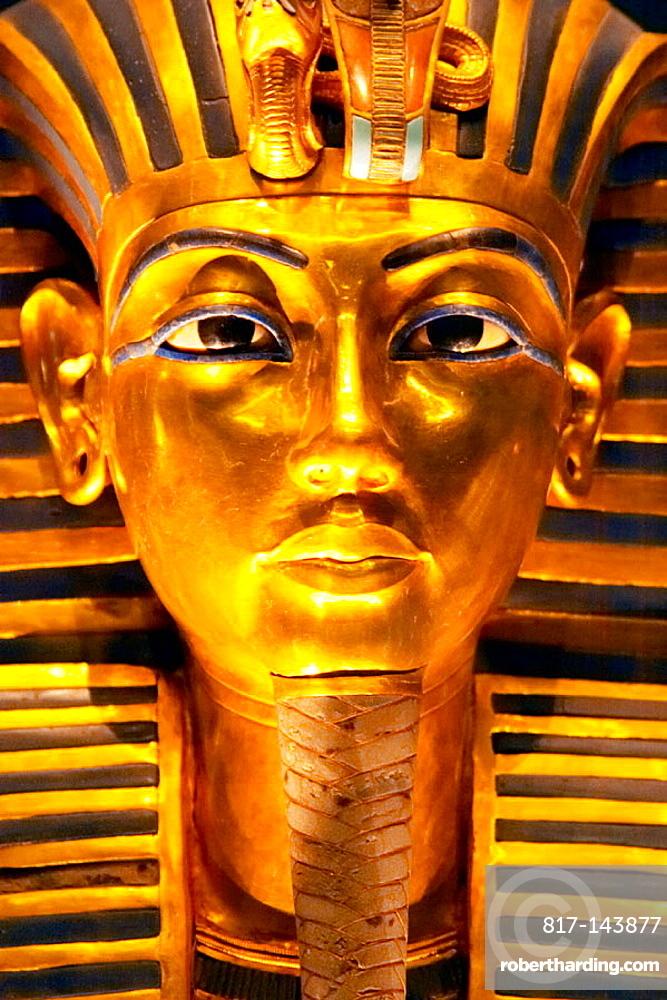 Tutankhamen Death Mask Egyptian Museum Stock Photo