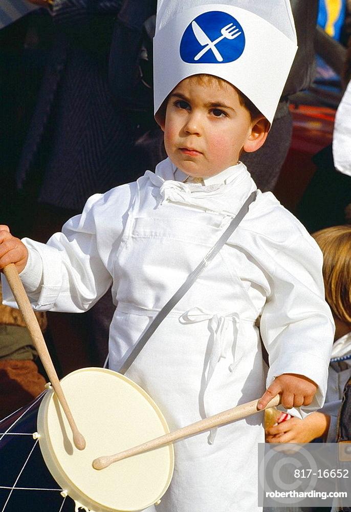 'Tamborrada' festival on 20 January, San Sebastian, Guipuzcoa, Basque Country, Spain