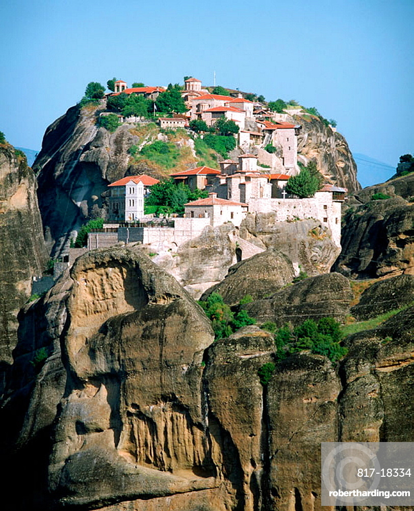 Varlaam and Megalo Meteoro monasteries, Meteora, Thessaly, Greece