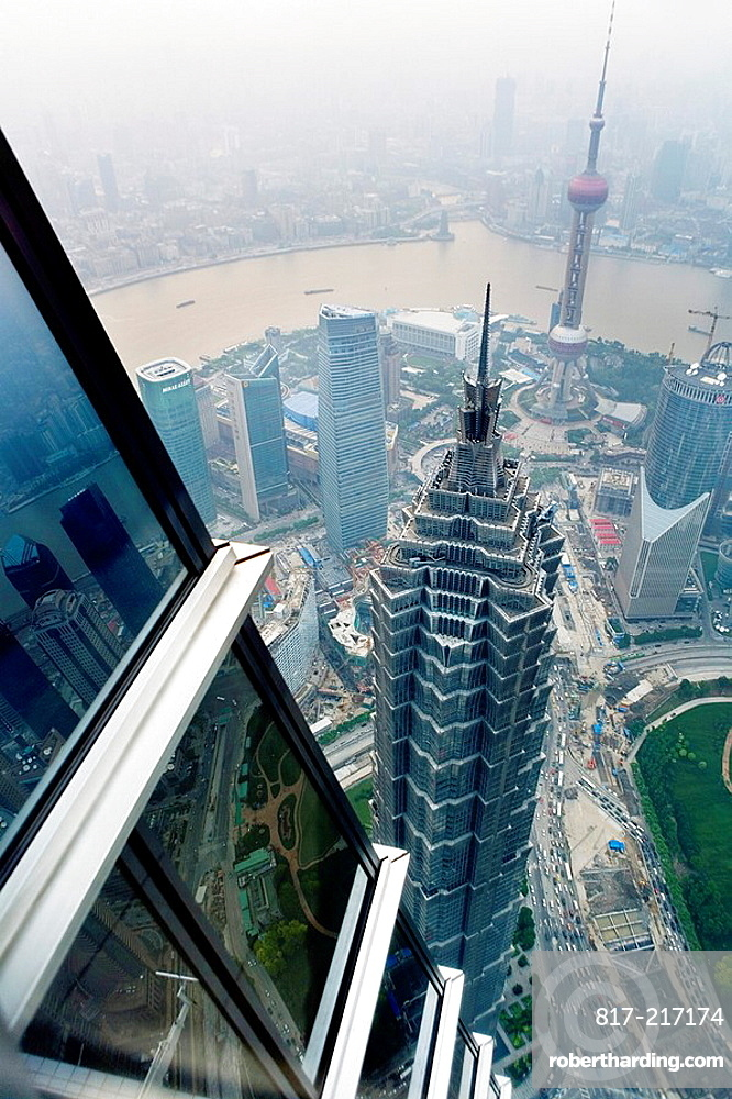 China Shanghai: Skyline  Jin Mao Tower and Orient Pearl tower