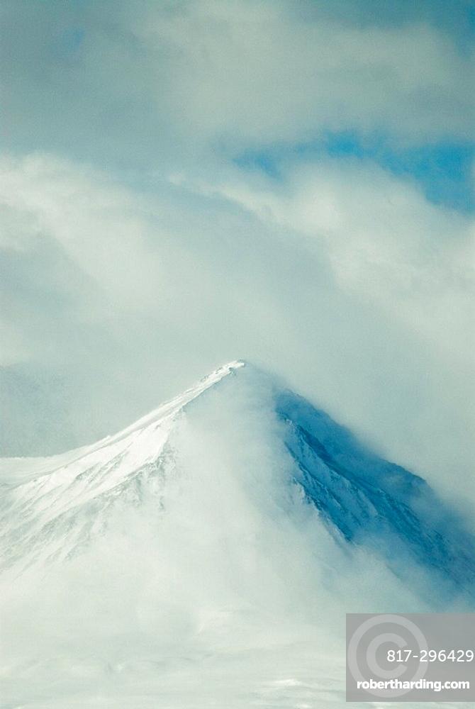 Chugach Mountains, landscape, mountain, mountains, fog, clouds, snow, USA, America, United States, North America, Alas. Chugach Mountains, landscape, mountain, mountains, fog, clouds, snow, USA, America, United States, North America, Alas