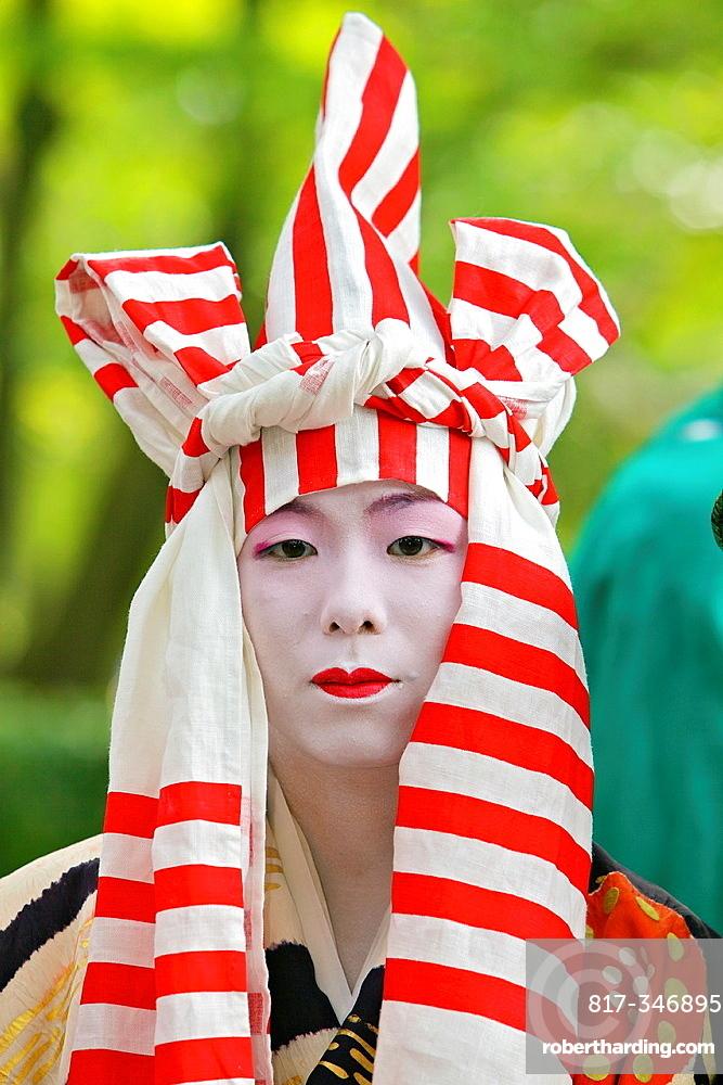 A costumed participant in the Jidai Matsuri