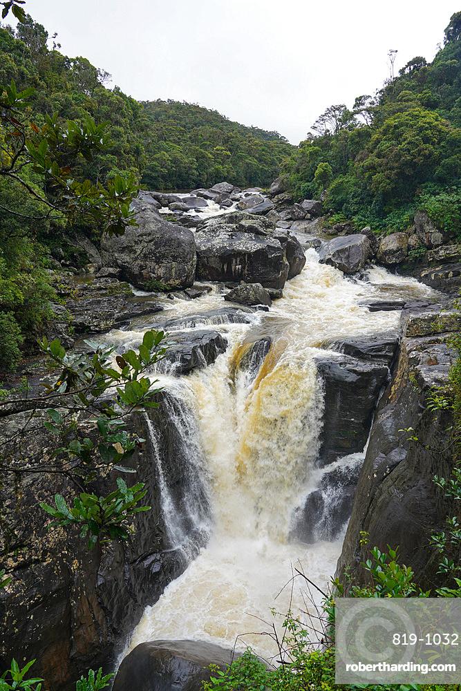 Waterfall, Parc National de Ranomafana, Ranomafana, Central Madagascar