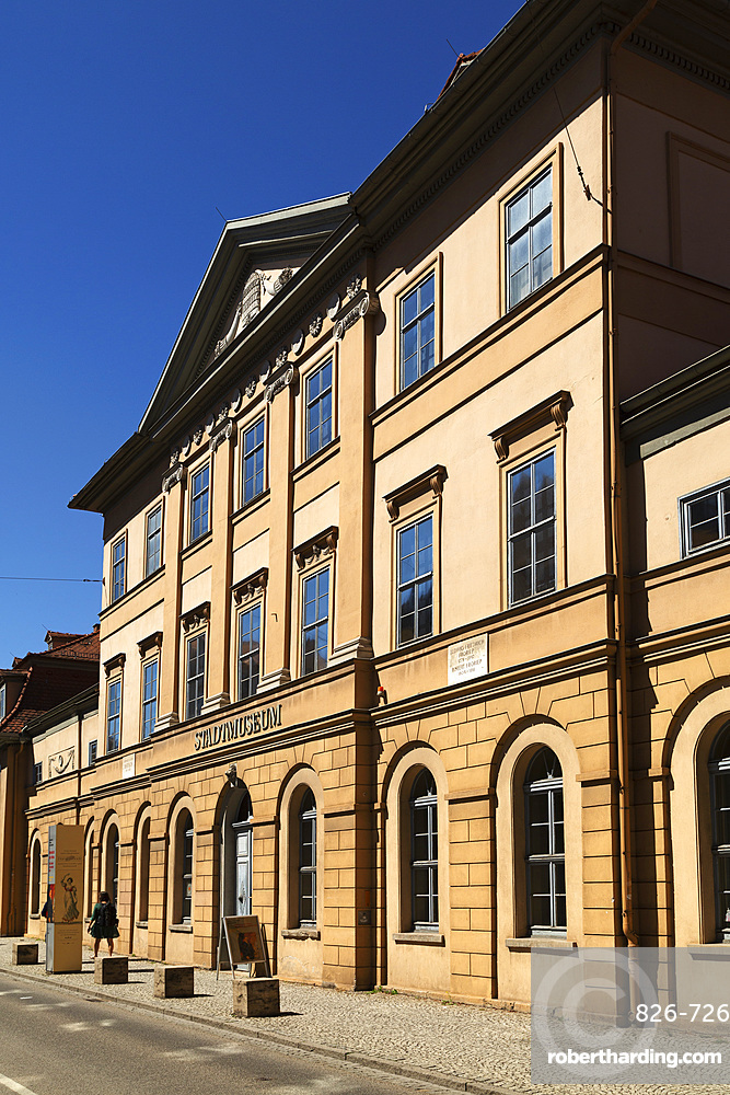 Facade of the Stadtmuseum (City Museum) in Weimar, Thuringia, Germany, Europe