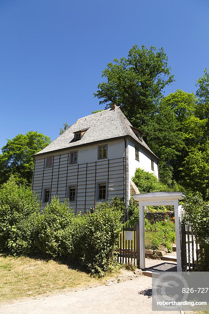 Goether's Summer House (Goethe Gartenhaus) (Goethe's Garden House) at the Park an der Ilm in Weimar, Thuringia, Germany, Europe