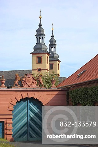 Kloster Triefenstein monastery, former convent of the Augustinian choristers in Triefenstein, Main-Spessart district, Lower Franconia, Bavaria, Germany, Europe