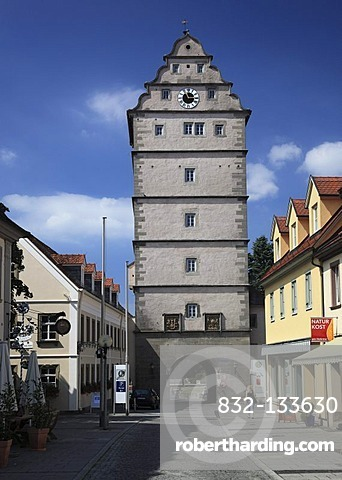 Hohntor Gate Tower Bad Neustadt Stock Photo