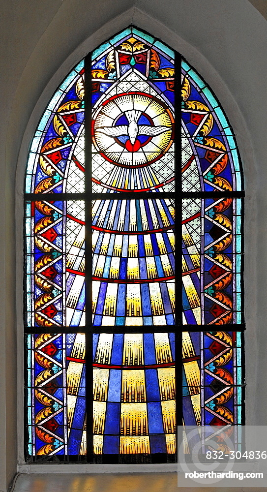Stained Glass Window At The Church Stock Photo