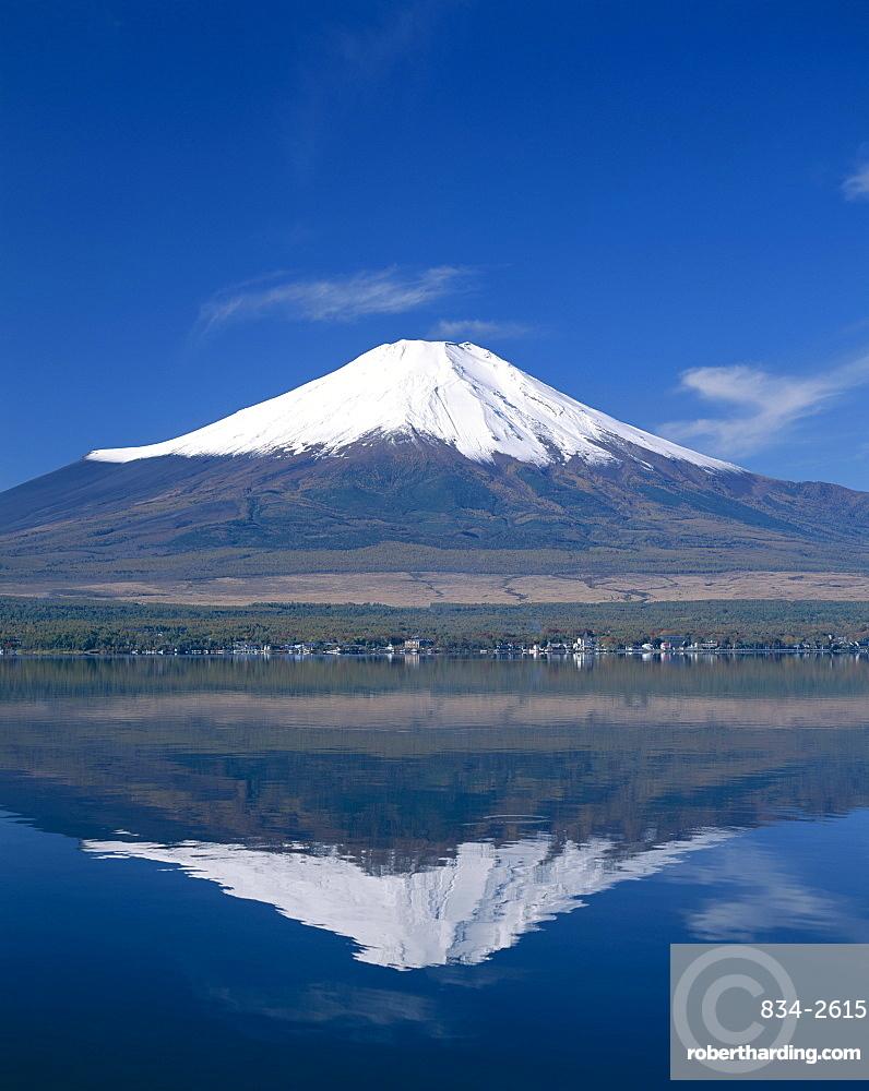 Mount Fuji and Lake Yamanaka, | Stock Photo