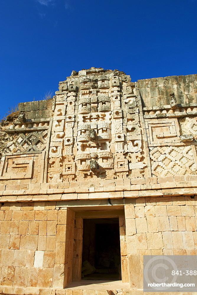 Cuadrangulo de las Monjas (Nuns' Quadrangle) at Mayan archaeological site, Uxmal, UNESCO World Heritage Site, Yucatan State, Mexico, North America