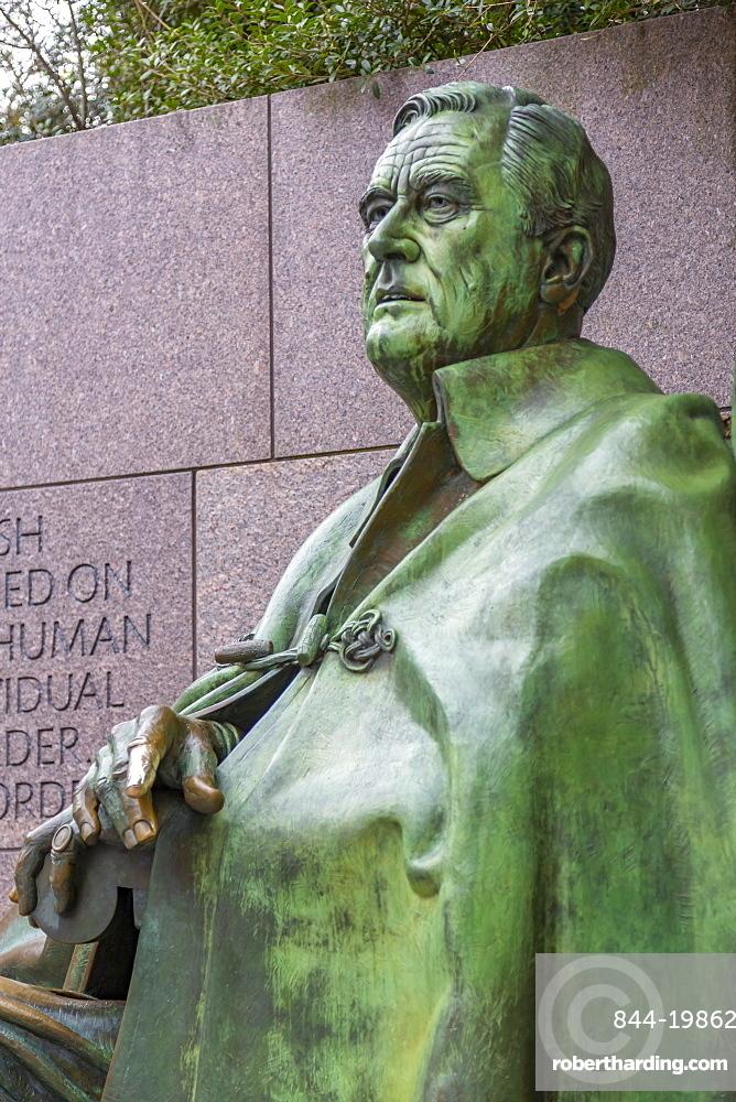 View of Franklin Delano Roosevelt Memorial, Washington D.C., United States of America, North America
