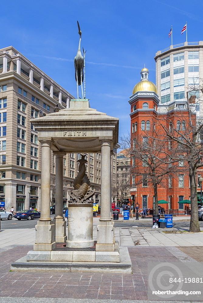 View of John Marshall Park on Pennsylvania Avenue, Washington DC, District of Columbia, United States of America