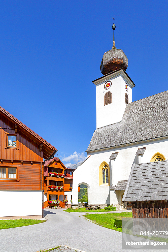 View of Heilige Margaretha Church in Oberhaus, Styria, Austria, Europe