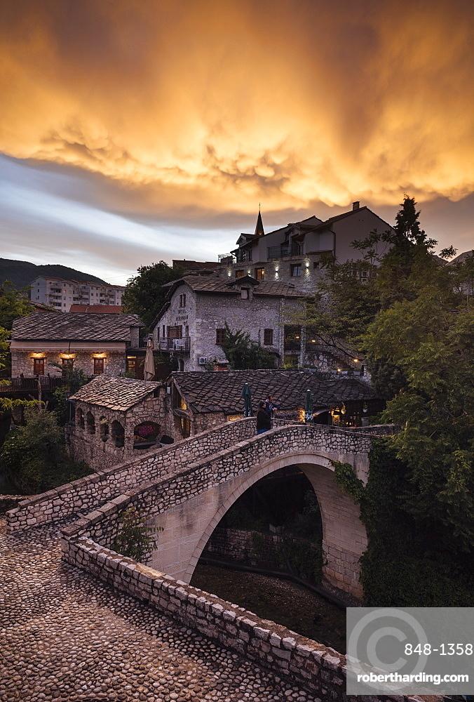 The Crooked Bridge, Mostar, Bosnia and Hercegovina, Europe