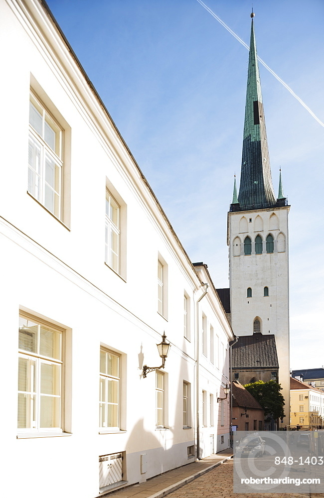 Exterior of St. Olaf's church, Old Town, UNESCO World Heritage Site, Tallinn, Estonia, Europe