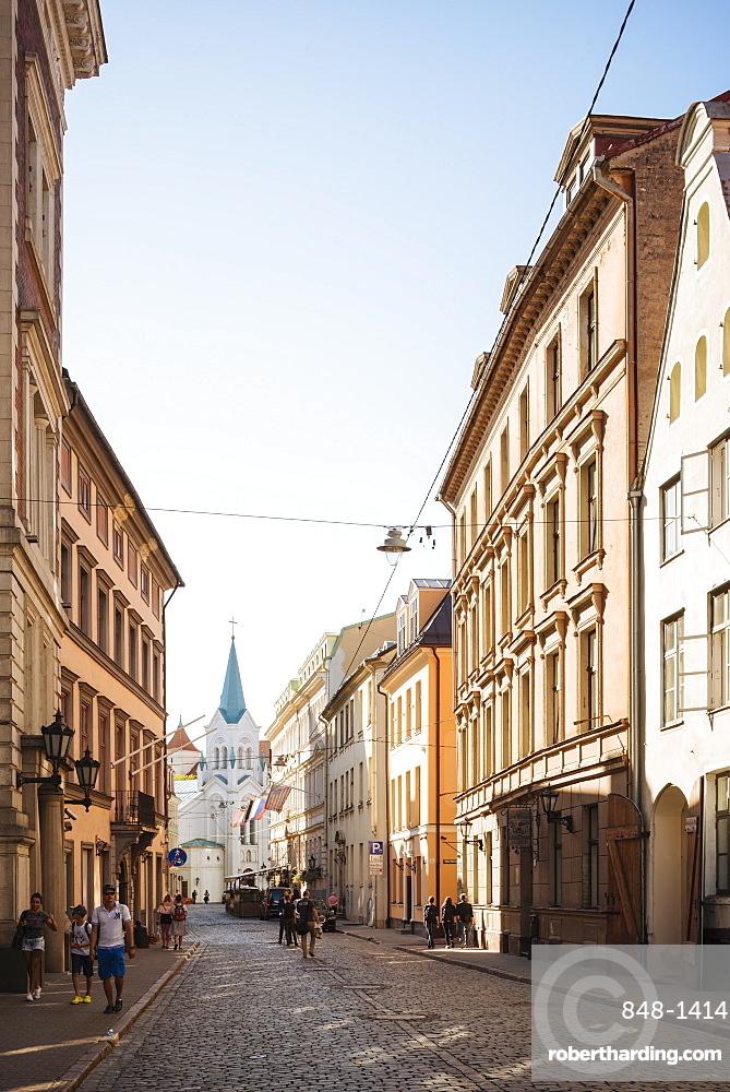 Pils Iela Street, Riga, Latvia, Baltic States, Europe