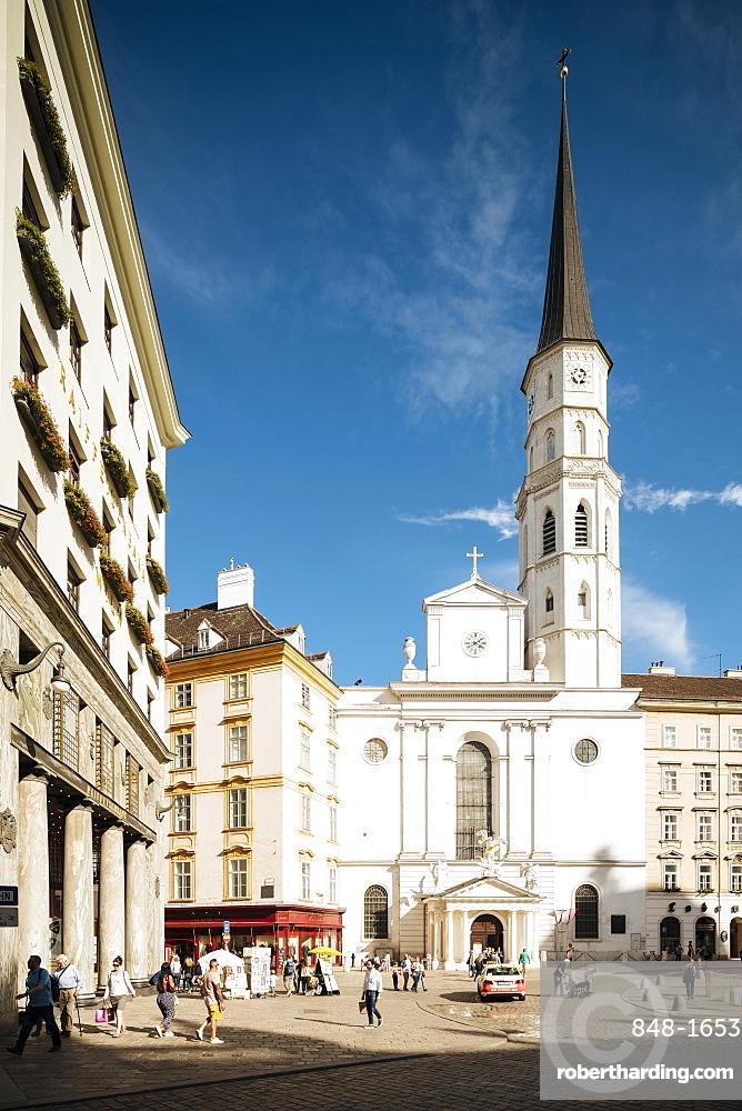 St. Michael's Church, UNESCO World Heritage Site, Michaelerplatz, Vienna, Austria, Europe