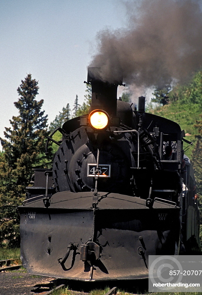 The Cumbres & Toltec Scenic Railroad travels between New Mexico and Colorado
