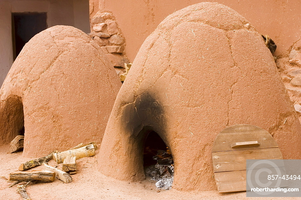 Two traditional outdoor ovens in New Mexico.