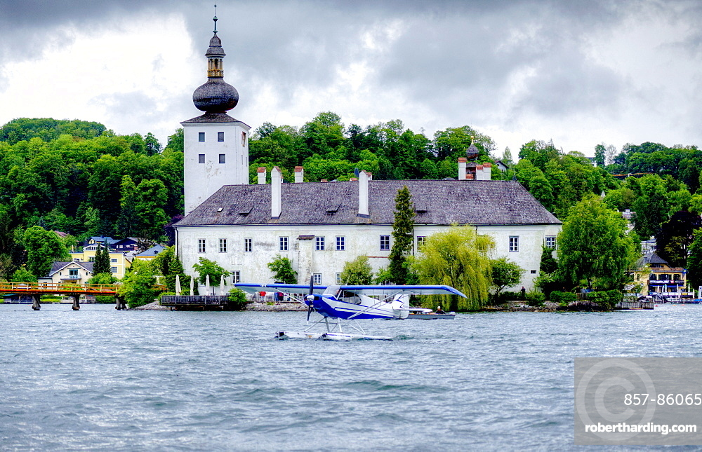 Schloss Ort castle, Lake Traunsee, Gmunden, Austria.
