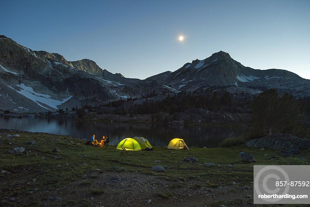 camping in 20 Lakes Basin, California