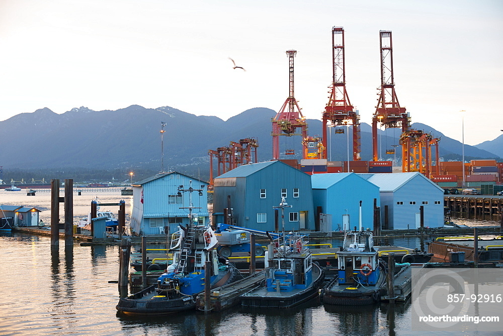 Tugboats are docked near the Port of Vancouver in Vancouver Harbor in Vancouver, Canada, on June 4, 2014.