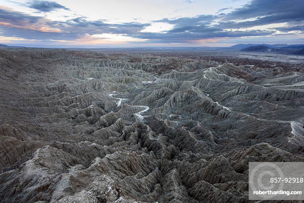 Badlands seen from Fonts Point in the Anza Borrego Desert State Park in California.