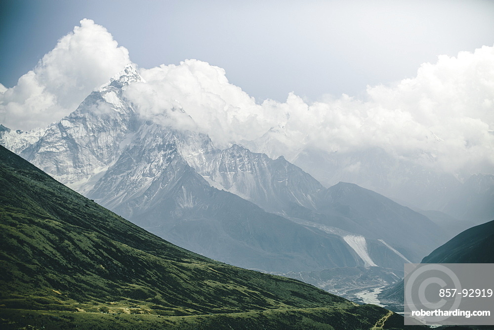 Ama Dablam rises above the Khumbu on the Everest Base Camp Trek.