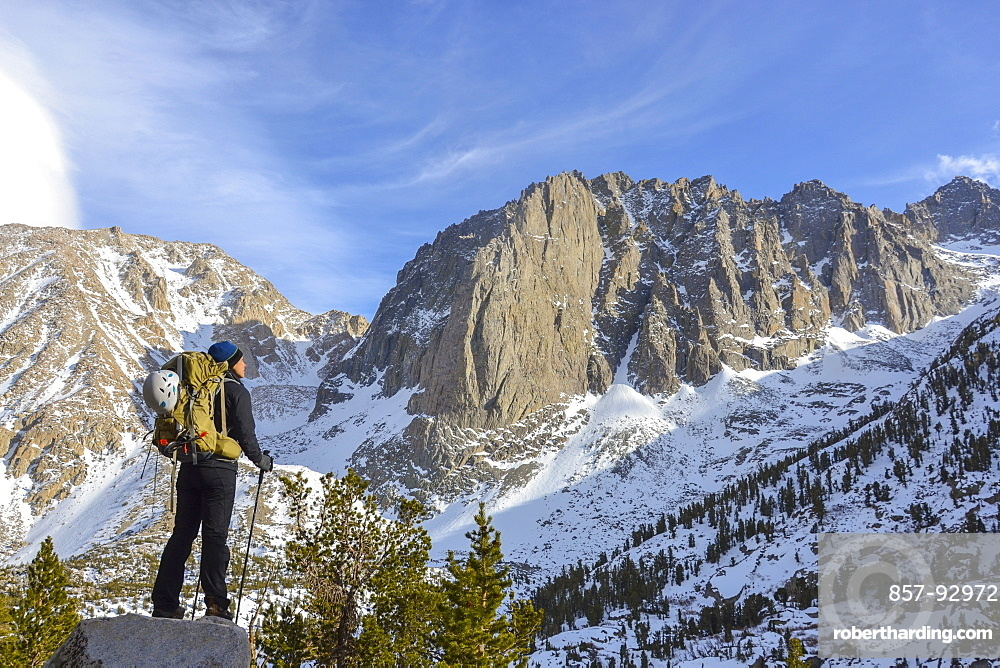 Temple Crag never fails to impress, while hiking in the Eastern Sierra Nevada, California.