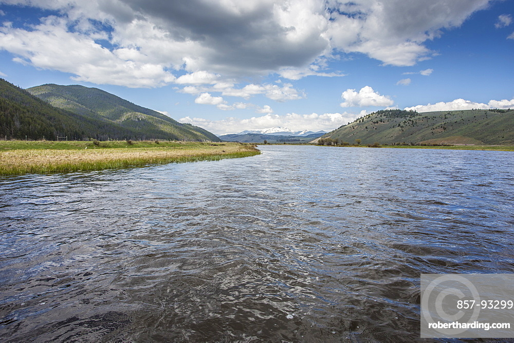 Scenic View Of Big Hole River In Montana