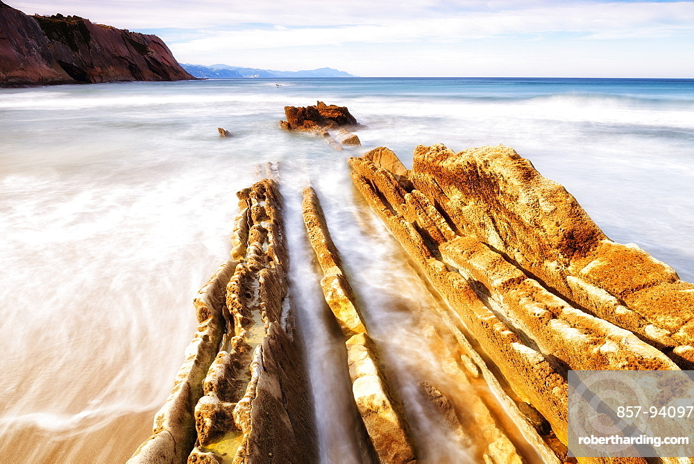 The Beach Of Zumaia Village In Euskadi, Basque Country, Spain, Europe