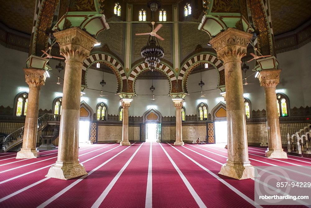 Interior Of The Medan Grand Mosque, Sumatra, Indonesia